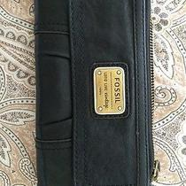 Black Leather Fossil Wallet Photo