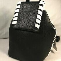 Black Leather French Connection Mini Backpack Brand New With Tags 78.00 Msrp Photo