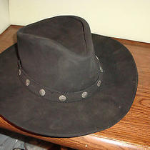 Black Leather Hat Minnetonka