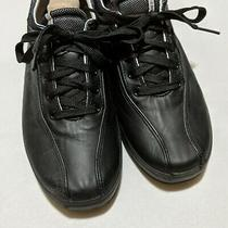 Black Leather Keds Lace Up Sneakers Size 9 Photo