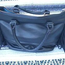 Black Leather Purse With Black Leather Fringe Photo