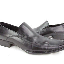 Black Leather Steve Madden Men's Sz 10m Bifff Casual Dress Loafers Pre-Owned Photo