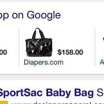 Black Lesportsac Diaper Bag Photo