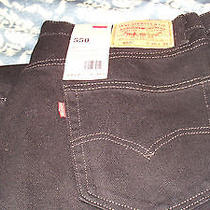 Black Levi 550  Relaxed  Fit  Taper Fit Jeans 36x32 Photo