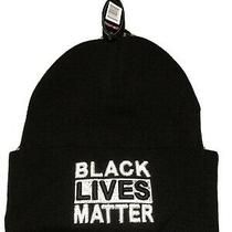 Black Lives Matter Beanie Hat Ski Hat - Knitted Cap- Navy Embroidered- Photo
