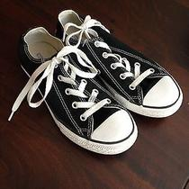 Black Low Top Converse All Stars Size 2 Photo