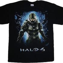 Black Master Chief Halo 4 Video Game Cotton T-Shirt Size Adult Xl Extra Large Photo