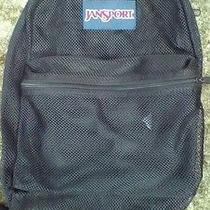Black Mesh Jansport Backpack Bookbag Gym Bag  See Through Beach Photo