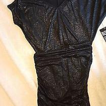 Black Metallic Dress Brand New Express Xs Photo