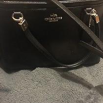Black Mini Christie Coach Satchel Handbag Photo