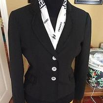 Black Moschino Cheap & Chic Mother of Pearl Buttons Tailored Jacket 44 10 (8) Photo