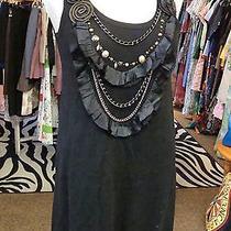 Black Nanette Lepore Wool Knit Necklace Dress Layering S Photo
