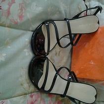 Black  Open. Toe Shoes Photo