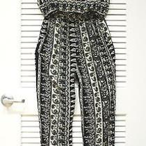 Black P Slevless Jumpsuit S W/ Anthropologie Earrings Photo