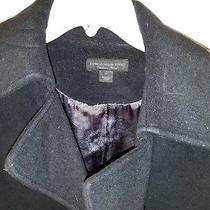 Black Pea Coat Size Med Photo