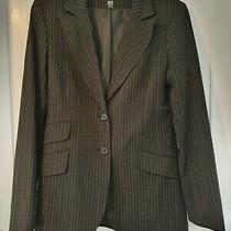 Black Pinstripe Blazer From h&m Size 14 Ok 12 Too Photo