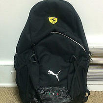 Black Puma Ferrari Backpack Motorcycle Backpack Black White Puma Authentic New Photo