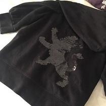 Black Quarter Length Sweatshirt With Sequins From Express Photo