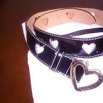 Black Redwall Moschino Heart Belt Photo