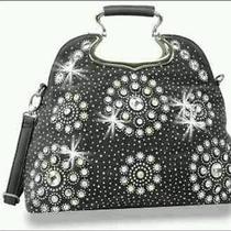 Black Rhinestone Design Retro Handbag Blinged Out Photo