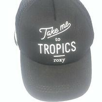 Black Roxy Take Me to Tropics Trucker Hat Snapback Cap Hat C50 Photo