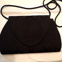 Black Satin Demask Evening/dress Bag