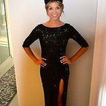 Black Sequin Formal Dress Photo