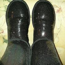 Black Sequin Ugg Boots Photo