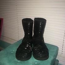 Black Sequin Ugg Boots  Photo