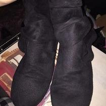 Black Short Boots With Bow Photo