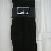 Black Silky Socks 55% Tencel 45% Nylon Ladies Size 9-11 B.ella Bebe Usa Made Photo
