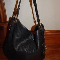 Black Soft Leather Fossil Tote Handbag Photo