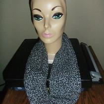 Black & Sparkly Silver Holiday Cowl Knit Scarf Express Photo