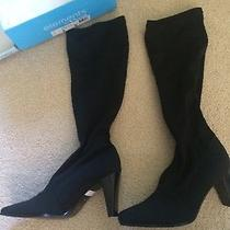 Black Stretch Boots Women Size 9 Elements by Nina Photo