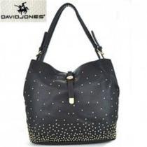 Black Studded Hobo Bag by David Jones Photo