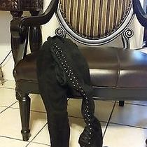 Black Suede Bebe Boots Photo