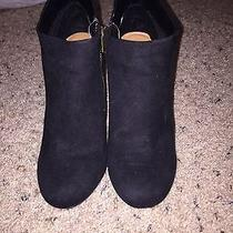 Black Suede Booties Photo