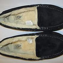 Black Suede Ugg Ansley Women's Slippers Size 7 Photo