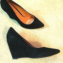 Black Suede Wedges Photo