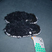 Black Thing Furry Crocs Nwt Size C9 Slippers Boys Girls Photo