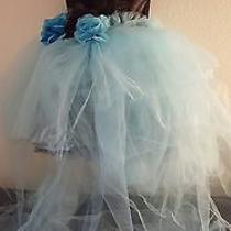 Black & Tiffany Blue Multi Tier Tutu Corset Mini Dress Skirt Set Bridal Wedding  Photo