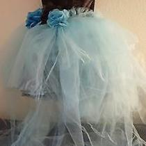 Black & Tiffany Blue Multi Tier Tutu Corset Mini Dress Skirt Set Bridal Wedding  Photo