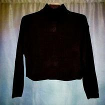 Black Turtle-Neck Shortie Sweater by h&m Divided Sz Small Xl Photo