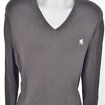 Black v-Neck  Express  100% Cotton Lion Sweater - Size Xl Photo