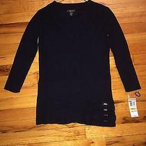 Black v Neck Sweater Sz S Photo