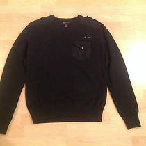 Black v-Neck Sweater With Pocket h&m Logg  / Great Condition / Mens Size Small Photo