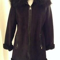 Black via Spiga Faux Suede Faus Fur Sherpa Style M Photo