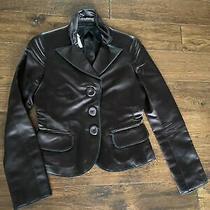 Black Vintage 90s Moschino Satin Blazer Size 2 Photo