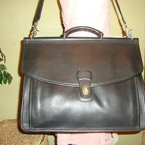 Black Vintage Leather Coach Beekman Briefcase Business Laptop 5266 Photo