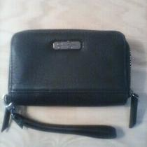 Black Wallet Zip Around Wristlet by Jessica Simpson Perfect Condition Value Save Photo